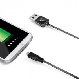 Celly 2.0m USB A - Micro USB B cavo USB 2 m Micro-USB B Nero
