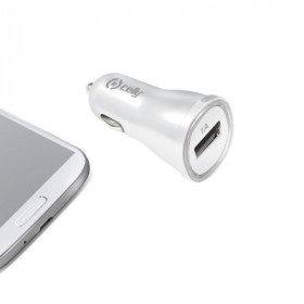 Celly CCUSBW Auto Bianco caricabatterie per cellulari e PDA