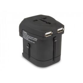 Hamlet Traver Adapter adattatore universale da viaggio per prese elettriche più caricatore usb