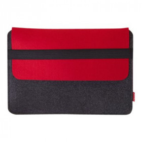 Tarifold Van Moose borsa per notebook Custodia a tasca Grigio, Rosso