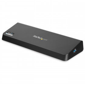 StarTech.com Docking Station Laptop universale USB 3.0 a doppia uscita video 4K DisplayPort / HDMI - Gbe + porta USB a ricarica rapida