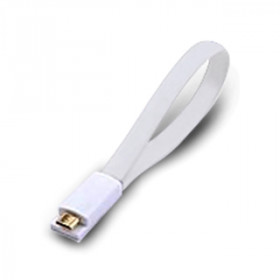 Atlantis Land 0.2m USB 2.0 A - Micro USB 2.0 B M/M 0.2m USB A Micro-USB B Maschio Maschio Bianco cavo USB