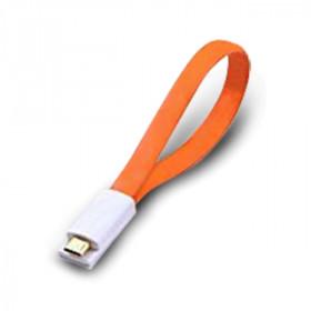 Atlantis Land 0.2m USB 2.0 A - Micro USB 2.0 B M/M 0.2m USB A Micro-USB B Maschio Maschio Arancione cavo USB