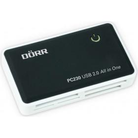 Dörr PC230 lettore di schede Nero, Bianco USB 2.0