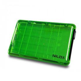 BOX USB 3.0 2.5P VERDE TRASPARENTE