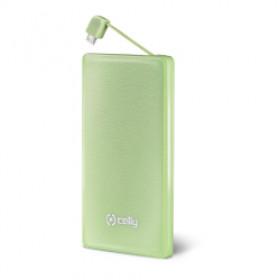 Celly PB3000GN Polimeri di litio (LiPo) 3000mAh Verde batteria portatile