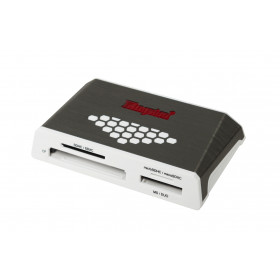 Kingston Technology USB 3.0 High-Speed Media Reader lettore di schede Grigio, Bianco