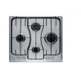 Electrolux RGG 6242 LOX Incasso Piano cottura a gas Nero, Acciaio inossi
