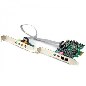 StarTech.com Scheda Audio interna PCI Express surround 7.1 canali - PCI Surround Sound Card a 24-bit , 192Khz