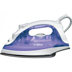 Bosch TDA2320 Ferro da stiro a secco e a vapore Acciaio inossidabile 2000W Porpora, Bianco ferro da stiro