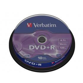 Verbatim DVD+R Matt Silver 4,7 GB 10 pezzo(i)