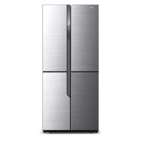 Hisense RQ562N4AC1 Libera installazione 432L A+ Acciaio inossidabile frigorifero side-by-side