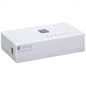 Techly Switch Hub 10/100 Mbps Fast Ethernet 5 Porte (I-SWHUB-050TY)