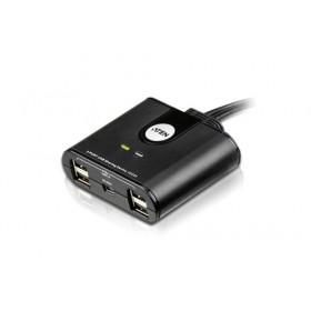 Aten US224 switch per keyboard-video-mouse (kvm) Nero