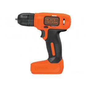 Black & Decker BDCD8 Trapano con impugnatura a pistola Litio 1.5Ah Nero, Arancione