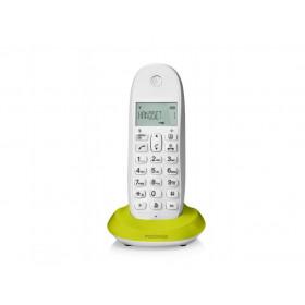 Motorola C1001L Telefono DECT Verde, Lime, Bianco Identificatore di chiamata