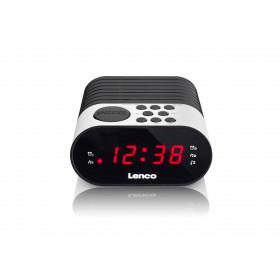 Lenco CR-07 radio Orologio Nero, Bianco
