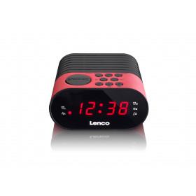 Lenco CR-07 radio Orologio Nero, Rosa