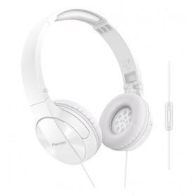 Pioneer SE-MJ503T-W Padiglione auricolare Stereofonico Cablato Bianco auricolare per telefono cellulare