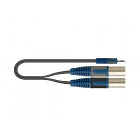 QUIK-LOK RKSA/192-5 5m 3.5mm 2 x XLR (3-pin) Nero, Blu, Grigio cavo audio