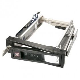 """Lindy 21978 contenitore di unità di archiviazione 3.5"""" Enclosure HDD Nero, Metallico"""