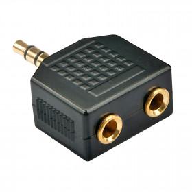 Lindy 35625 cavo di interfaccia e adattatore 2 x 3.5 mm jack 3.5mm jack Nero