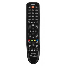 Meliconi Gumbody Personal 4 IR Wireless Pulsanti Nero telecomando
