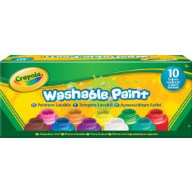 Crayola 10 Washable paint bottles pittura ad acqua Multi 60 ml Vasetto 10 pezzo(i)