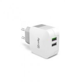 Celly TC2USBTURBO Caricabatterie per dispositivi mobili Interno Bianco