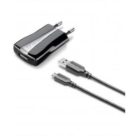 Cellularline USB Charger Kit - Micro USB Cavo e caricabatterie 5W in un'unica soluzione Nero