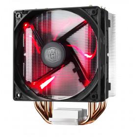 Cooler Master Hyper 212 LED Processore Refrigeratore 12 cm Nero, Metallico, Rosso