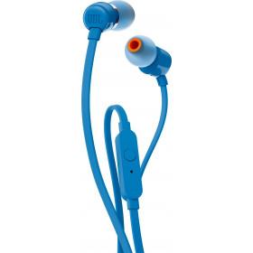 JBL T110 auricolare per telefono cellulare Stereofonico Blu Cablato