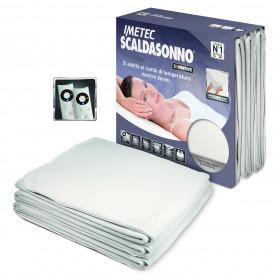 Imetec Scaldasonno Sensitive Maxi Doubl Coperta elettrica 300W Bianco Microfibra