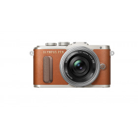 "Olympus PEN E-PL8 + 14-42mm EZ MILC 16,1 MP 4/3"" Live MOS 4608 x 3456 Pixel Marrone"