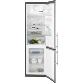 Electrolux EN3854POX frigorifero con congelatore Libera installazione Grigio, Acciaio inossidabile A+++
