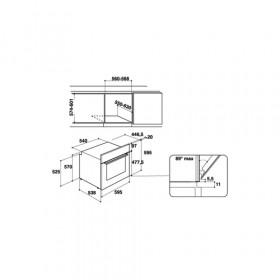 Hotpoint FA3 840 H IX HA forno Forno elettrico 66 L 2900 W Nero, Acciaio inossidabile A+