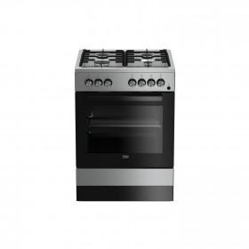 Beko FSE62110DX Libera installazione Piano cottura a gas A Acciaio inossidabile cucina