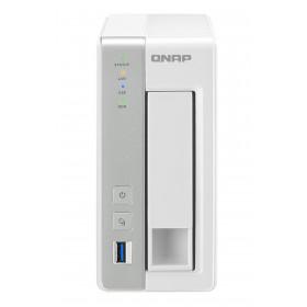 QNAP TS-131P server NAS e di archiviazione Collegamento ethernet LAN Torre Grigio, Bianco