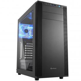 Sharkoon M25-W vane portacomputer Midi-Tower Nero