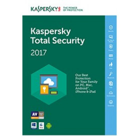 Kaspersky Lab Total Security 2017, 3U, 1Y Full license 3utente(i) 1anno/i