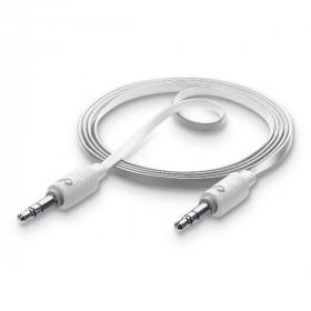 Cellularline Aux Music - Universale Cavo Aux antigroviglio per collegare lo smartphone all'autoradio Bianco