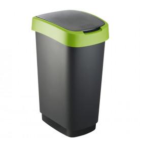Rotho 1754505519 bidone per la spazzatura 50 L Rettangolare Polipropilene (PP) Nero, Verde