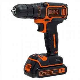 Black & Decker BDCDC18KB Trapano con impugnatura a pistola Ioni di Litio 1.5Ah Nero, Arancione