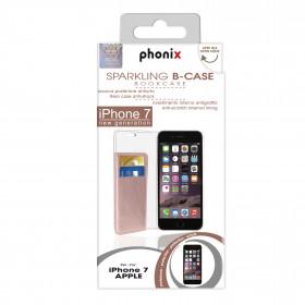 Phonix IP7BCO Custodia a libro Oro rosa custodia per cellulare