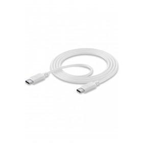 Cellularline USB-C to USB-C DATA CABLE Cavo USB-C/USB-C per ricarica e sincronizzazione dati Bianco