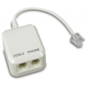 Digicom 8E4600 splitter telefono RJ-11 M 2x RJ-11 F Bianco