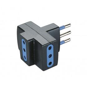Poly Pool PP0447.1 Tipo L (IT) Tipo L (IT) Nero, Blu adattatore per presa di corrente