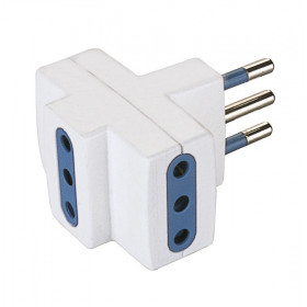 Poly Pool PP0447 Tipo L (IT) Tipo L (IT) Blu, Bianco adattatore per presa di corrente