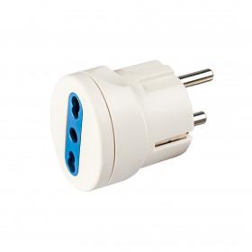 Poly Pool PP0451 Tipo L (IT) Universale Blu, Bianco adattatore per presa di corrente