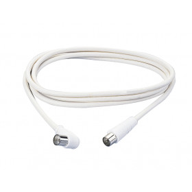 Poly Pool PP0619 1.5m F Plug F Plug Bianco cavo coassiale